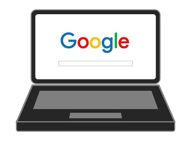 notebook, google vyhledávač