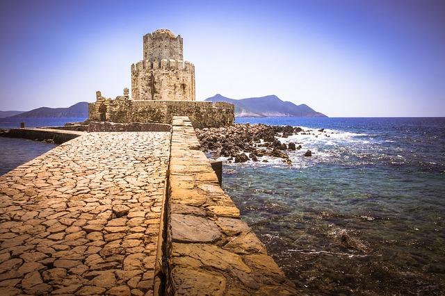 hrad v moři