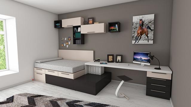 sestavený nábytek