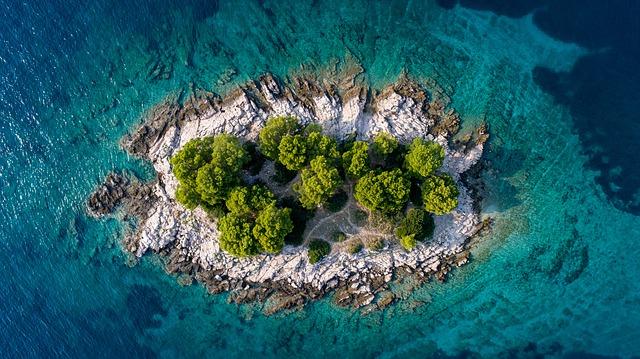 ostrůvek Chorvatska