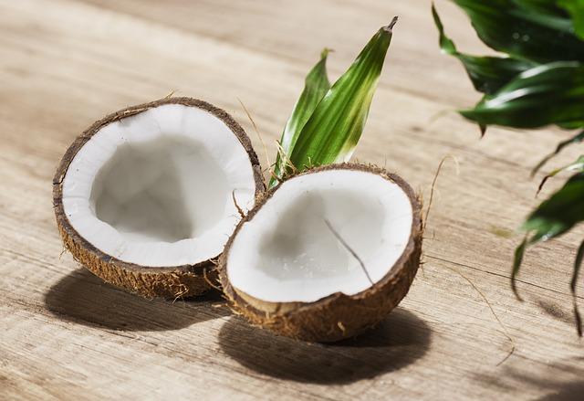 chutný a zdravý kokos